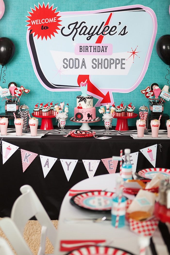 Best ideas about Vintage Birthday Party Decorations . Save or Pin Kara s Party Ideas Retro Soda Shoppe Birthday Party Now.