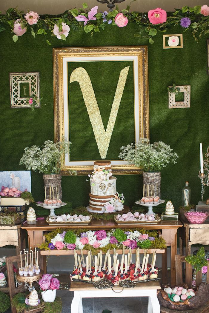 Best ideas about Vintage Birthday Party Decorations . Save or Pin Kara s Party Ideas Vintage Enchanted Garden Birthday Party Now.