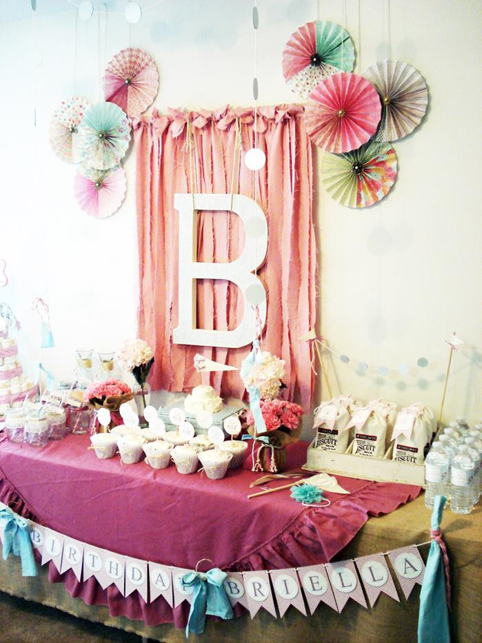 Best ideas about Vintage Birthday Party Decorations . Save or Pin Kara s Party Ideas Vintage Chic 1st Birthday Party via Now.