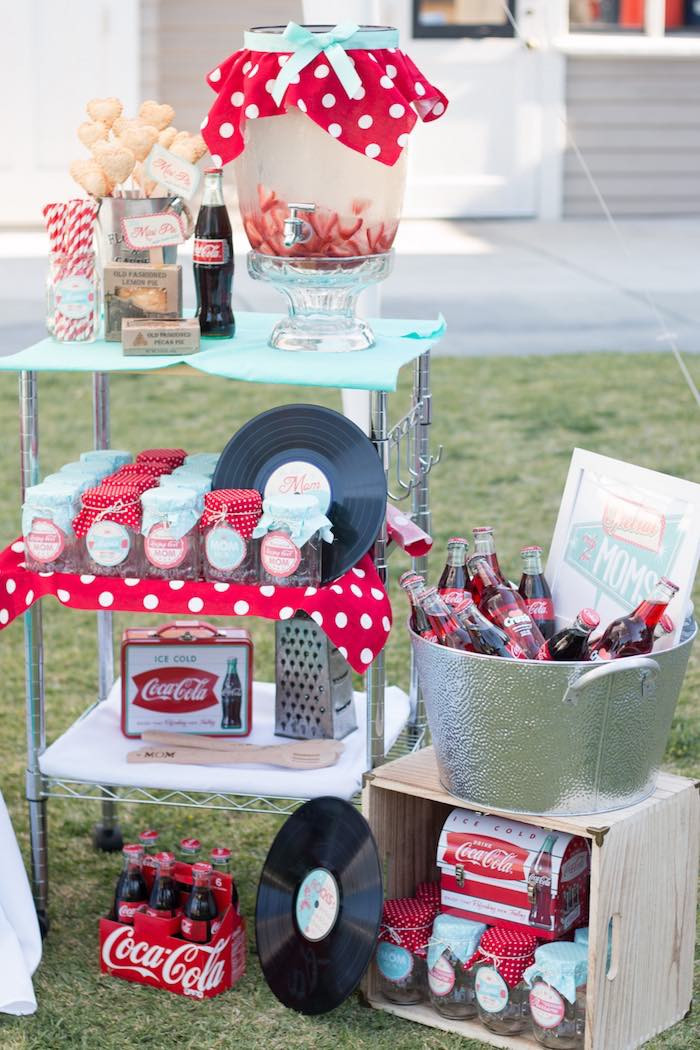 Best ideas about Vintage Birthday Party Decorations . Save or Pin Kara s Party Ideas Retro Diner Themed Mother s Day Party Now.