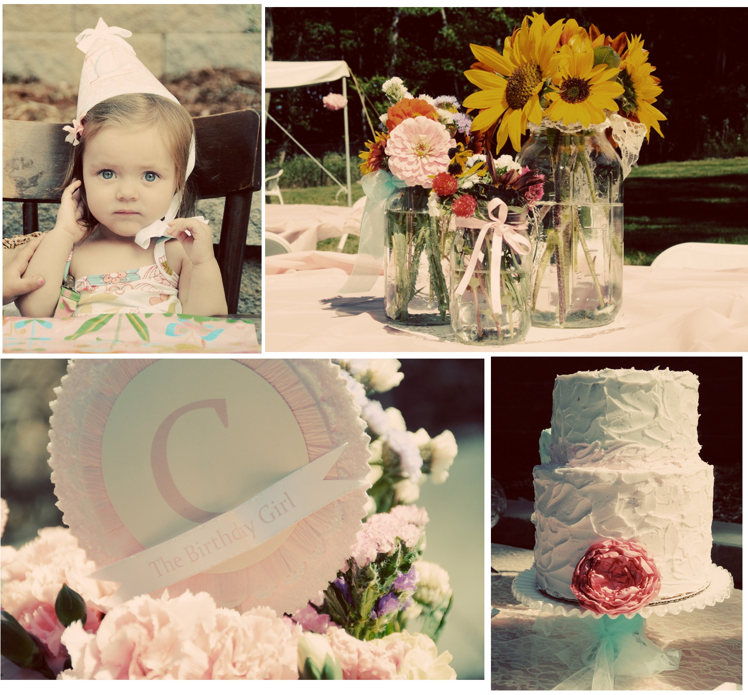 Best ideas about Vintage Birthday Party . Save or Pin Vintage Shabby Chic 1st Birthday Party Now.
