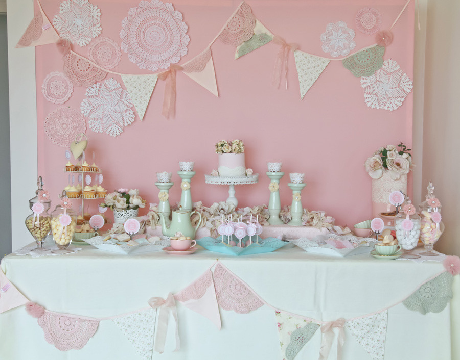 Best ideas about Vintage Birthday Party . Save or Pin A Stunning Doily Tea Party by Kiss With Style Anders Now.