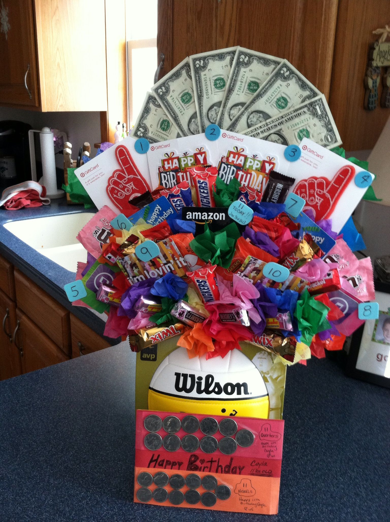 Best ideas about Volleyball Gift Ideas For Players . Save or Pin Candy bouquet Volleyball candy t card Now.