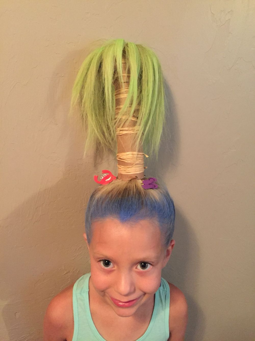 Best ideas about Wacky Hairstyles Easy To Do . Save or Pin Crazy hair day palm tree … Crazy hair day Now.