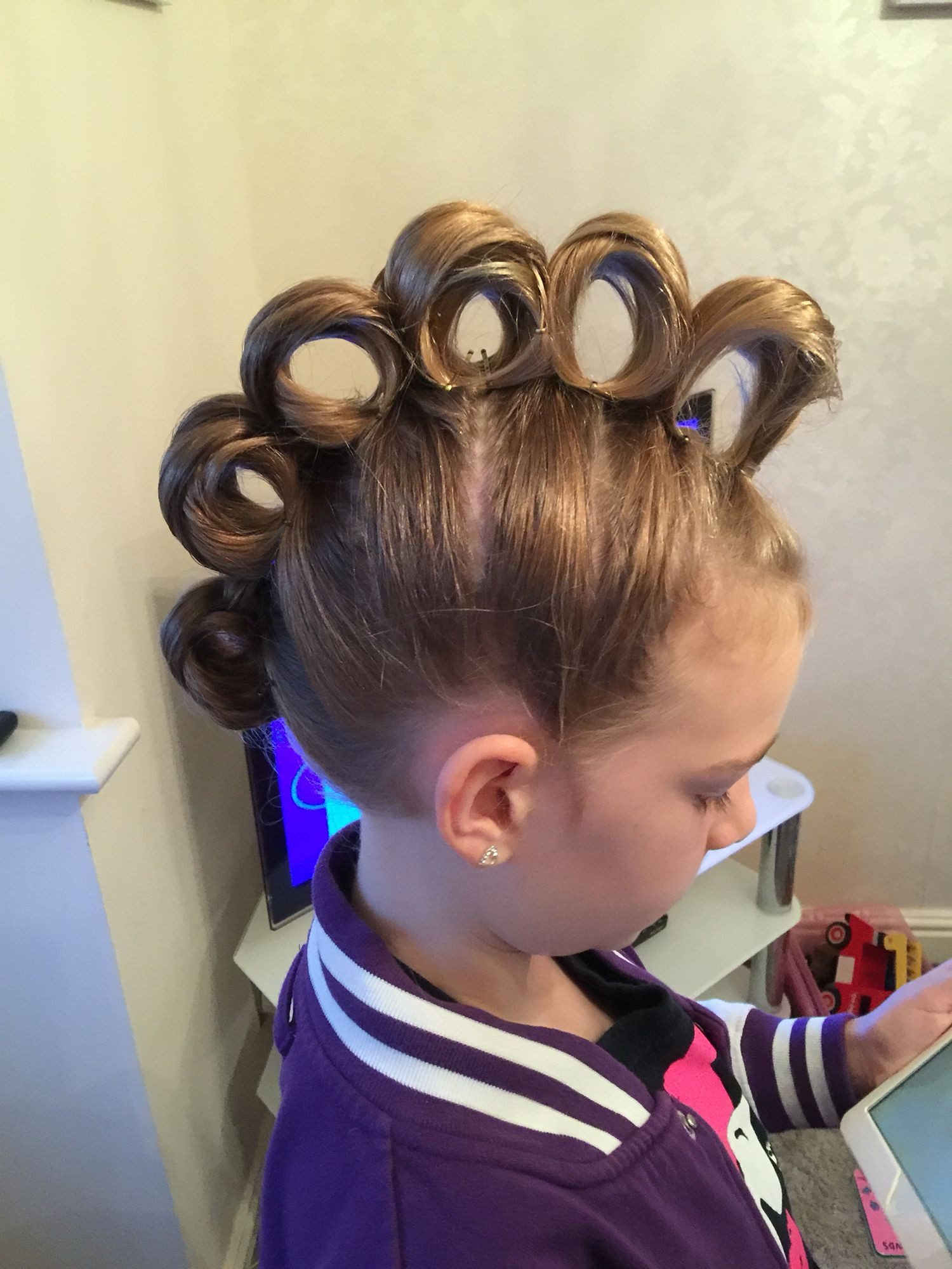 Best ideas about Wacky Hairstyles Easy To Do . Save or Pin Rolling Mohawk for crazy hair day hair Now.