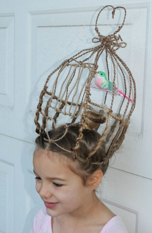 Best ideas about Wacky Hairstyles Easy To Do . Save or Pin Crazy Hair day A girl and a glue gun Now.