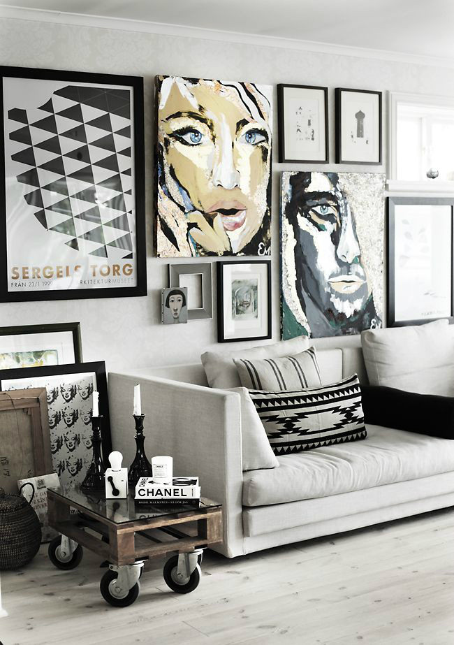 Best ideas about Wall Art Ideas For Living Room DIY . Save or Pin 21 Art Gallery Wall Ideas Decoholic Now.