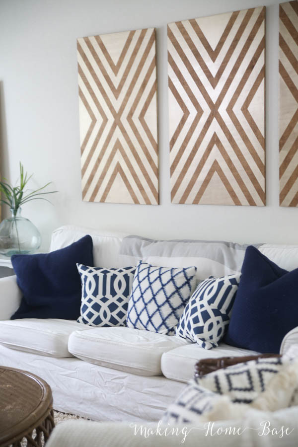 Best ideas about Wall Art Ideas For Living Room DIY . Save or Pin DIY Oversized Wall Art Now.