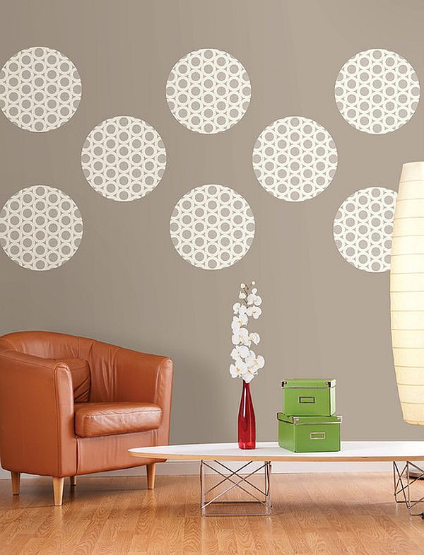 Best ideas about Wall Art Ideas For Living Room DIY . Save or Pin DIY Wall Dressings Polka Dot Designs that Add Sophistication Now.