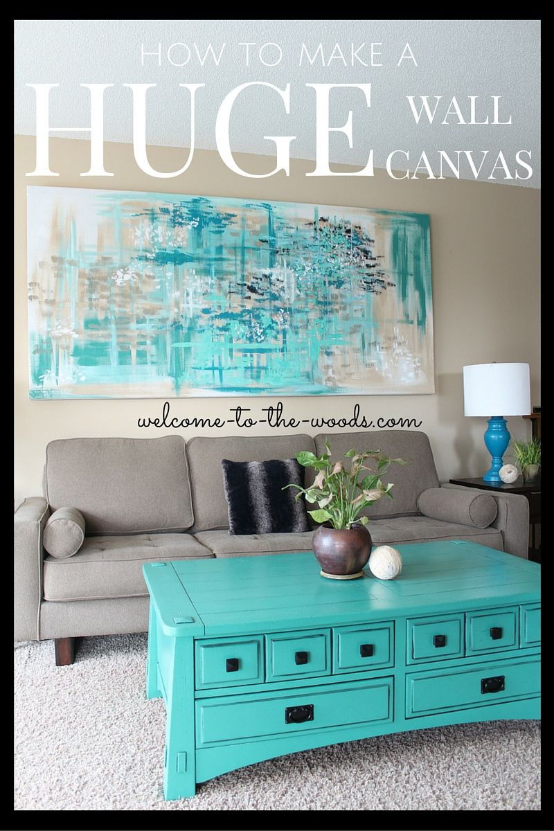 Best ideas about Wall Art Ideas For Living Room DIY . Save or Pin Canvas Wall Art Wel e to the Woods Now.