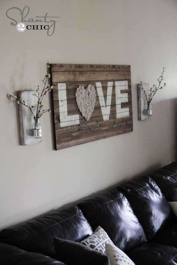 Best ideas about Wall Art Ideas For Living Room DIY . Save or Pin 20 Recycled Pallet Wall Art Ideas for Enhancing Your Interior Now.