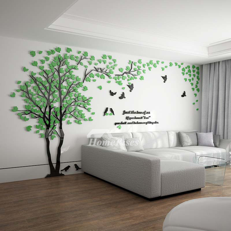 Best ideas about Wall Decals For Living Room . Save or Pin Tree Wall Decal 3D Living Room Green Yellow Acrylic Best Now.