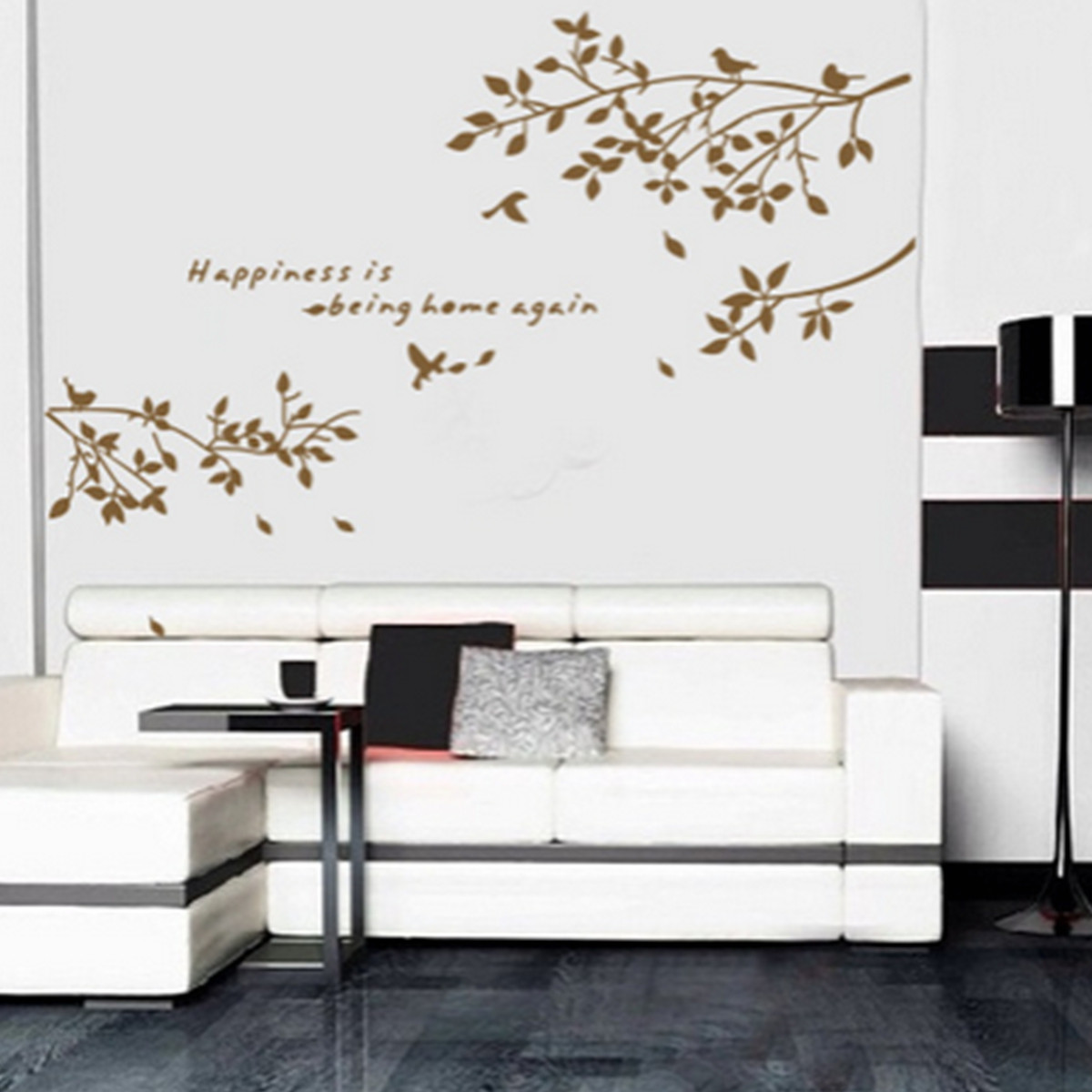Best ideas about Wall Decals For Living Room . Save or Pin Black Removable Tree Branches Birds Vinyl Wall Sticker Now.