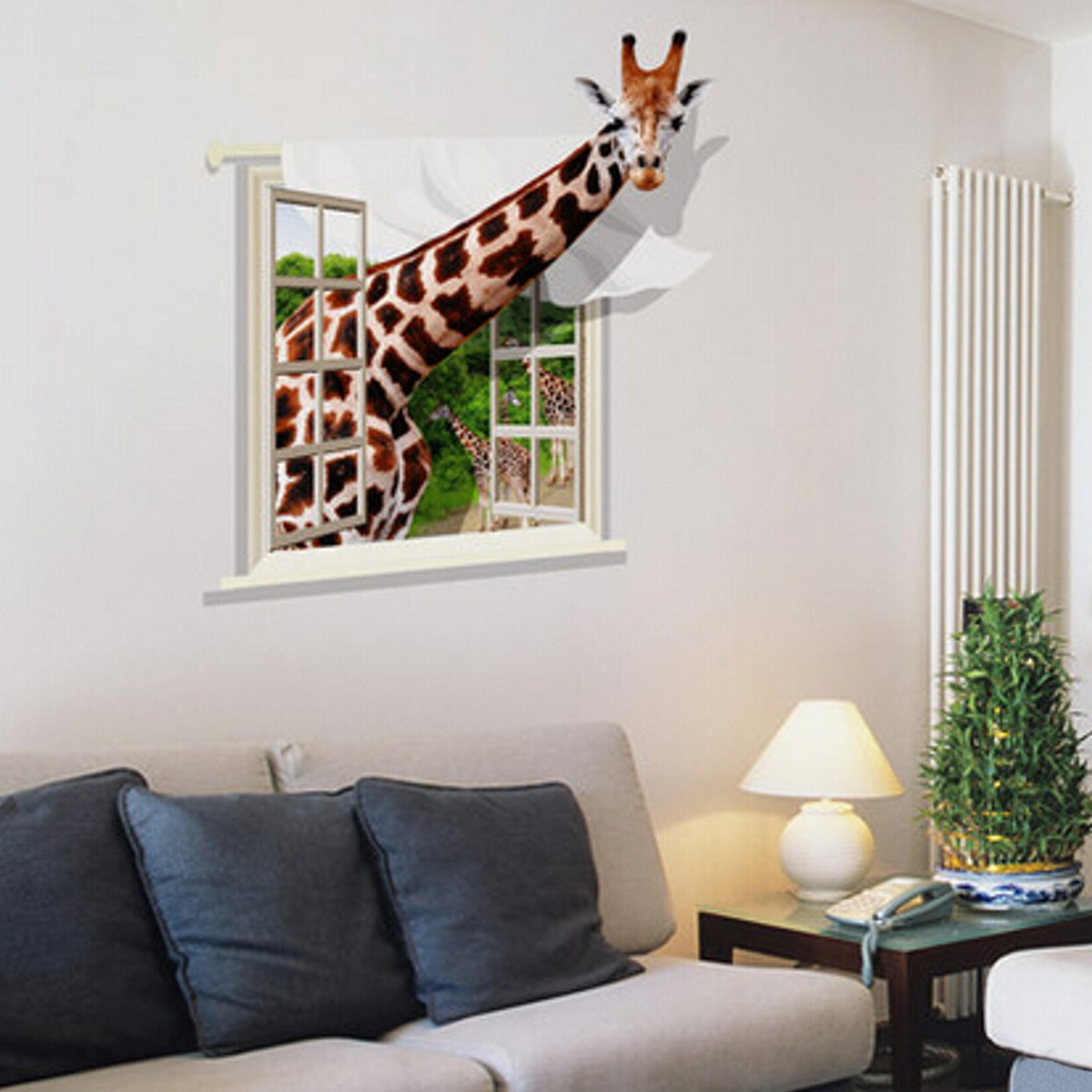Best ideas about Wall Decals For Living Room . Save or Pin 3D Lovely Giraffe Wall Sticker Decal Animal Wallpaper Now.