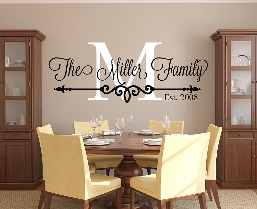 Best ideas about Wall Decals For Living Room . Save or Pin Customize Family Name Wall Decal Personalized Family Now.