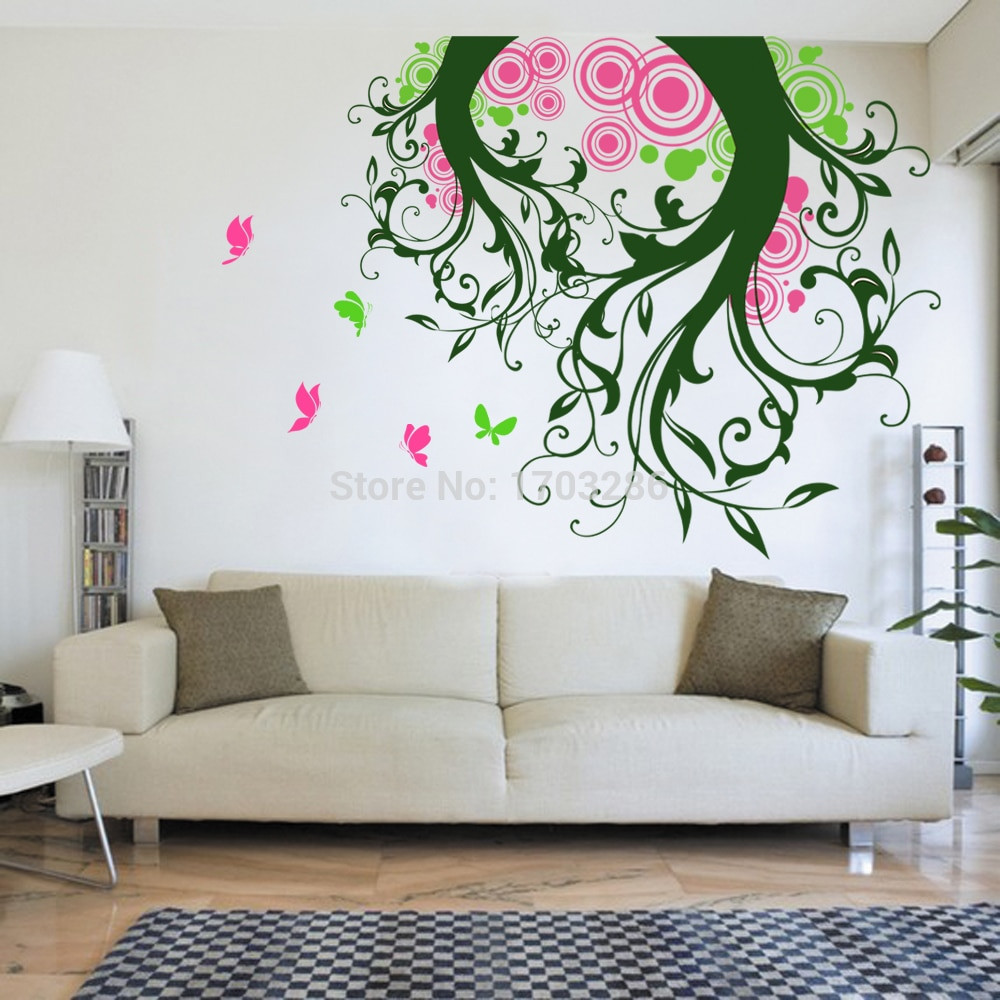 Best ideas about Wall Decals For Living Room . Save or Pin Magic Tree Wall Decal with Butterflies Tree Living Room Now.