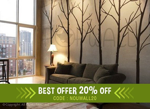 Best ideas about Wall Decals For Living Room . Save or Pin Winter Tree Wall decal living room wall decals Wall Sticker Now.