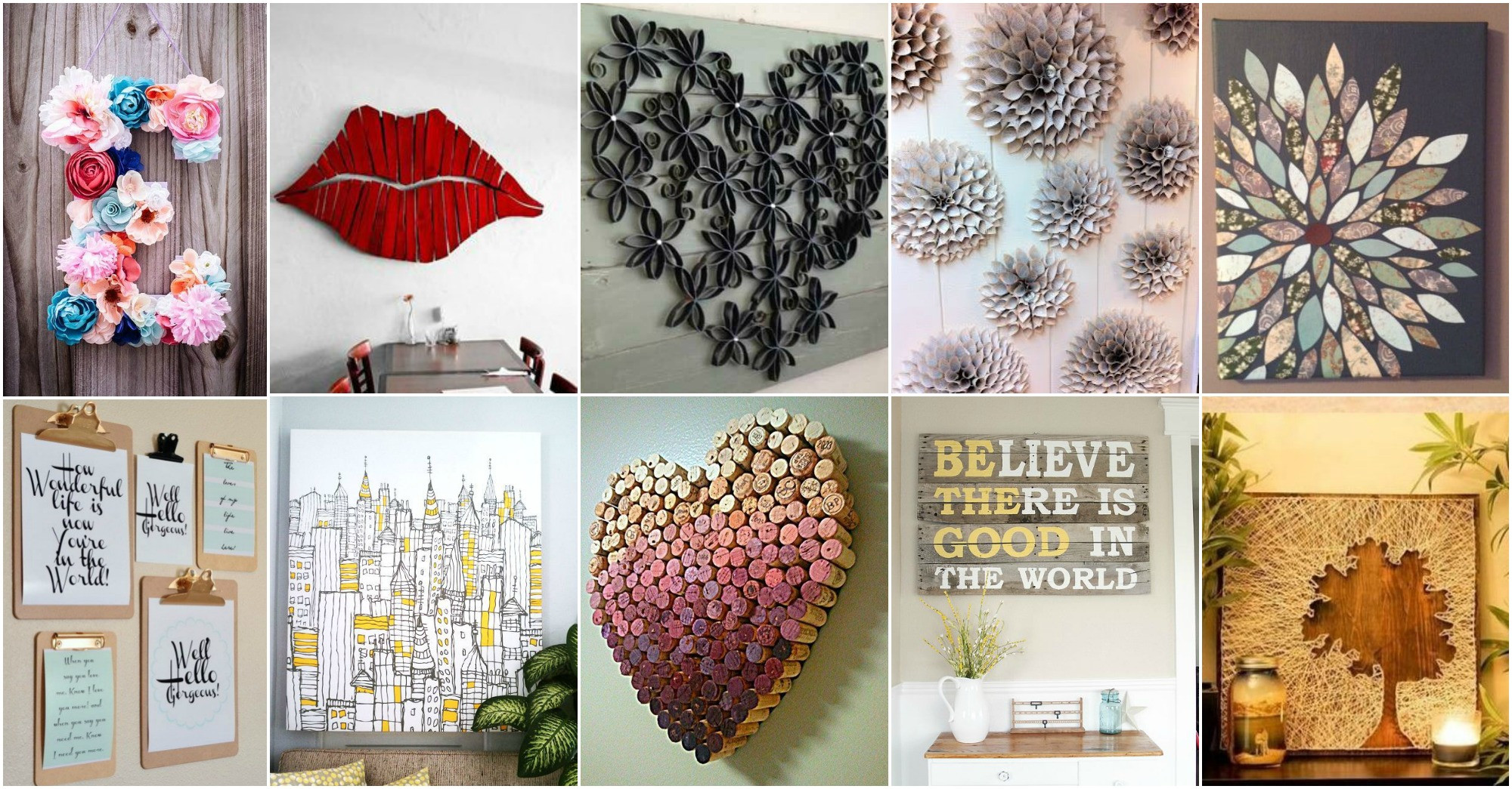 Best ideas about Wall Decors DIY . Save or Pin 20 DIY Innovative Wall Art Decor Ideas That Will Leave You Now.