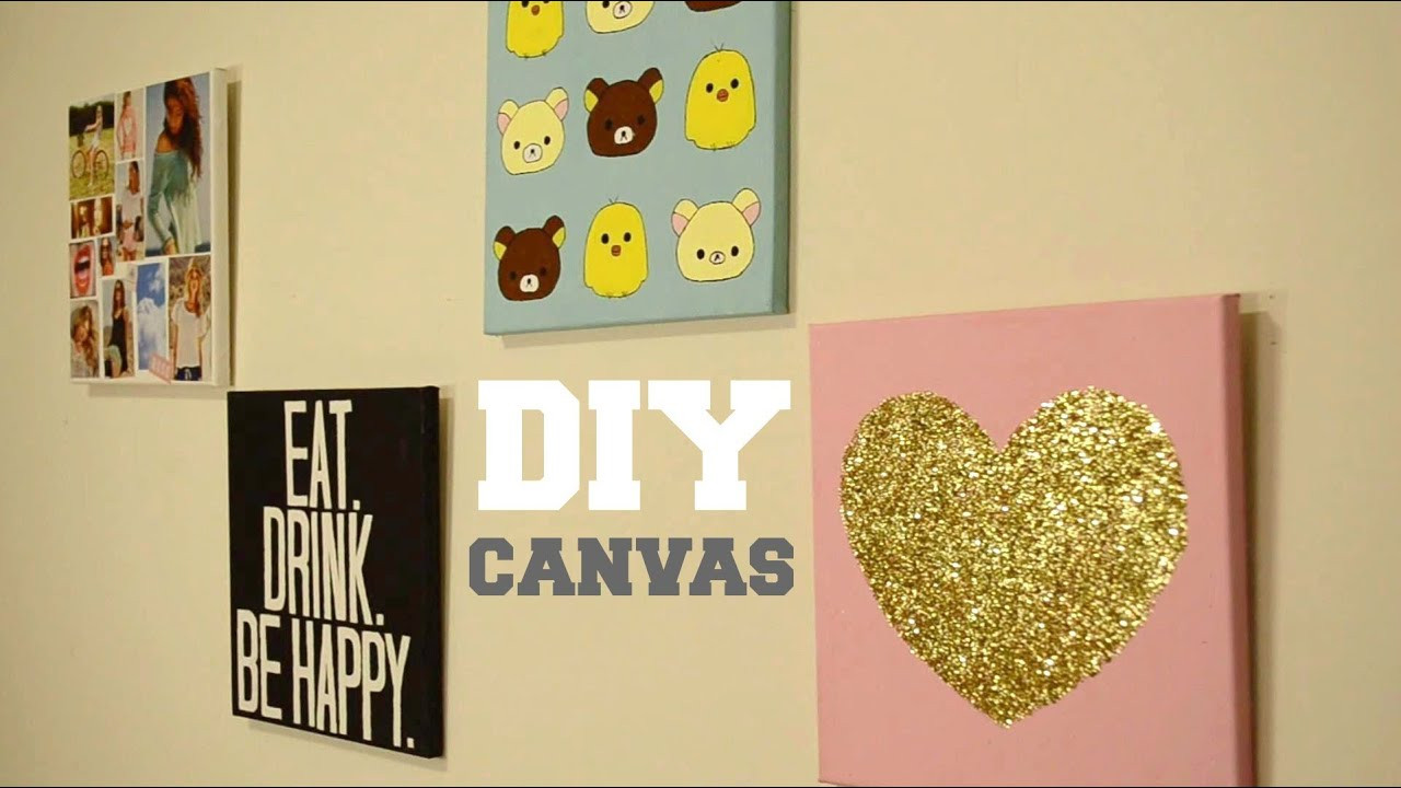 Best ideas about Wall Decors DIY . Save or Pin DIY Wall Decor Custom Canvas Now.