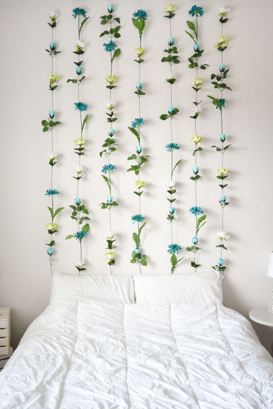 Best ideas about Wall Decors DIY . Save or Pin DIY Flower Wall Headboard Home Decor Now.