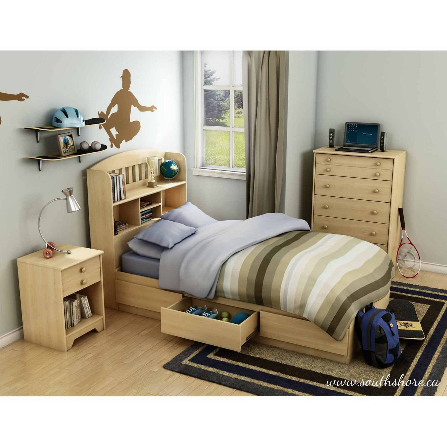 Best ideas about Walmart Bedroom Sets . Save or Pin South Shore Popular Kids Bedroom Furniture Collection Now.