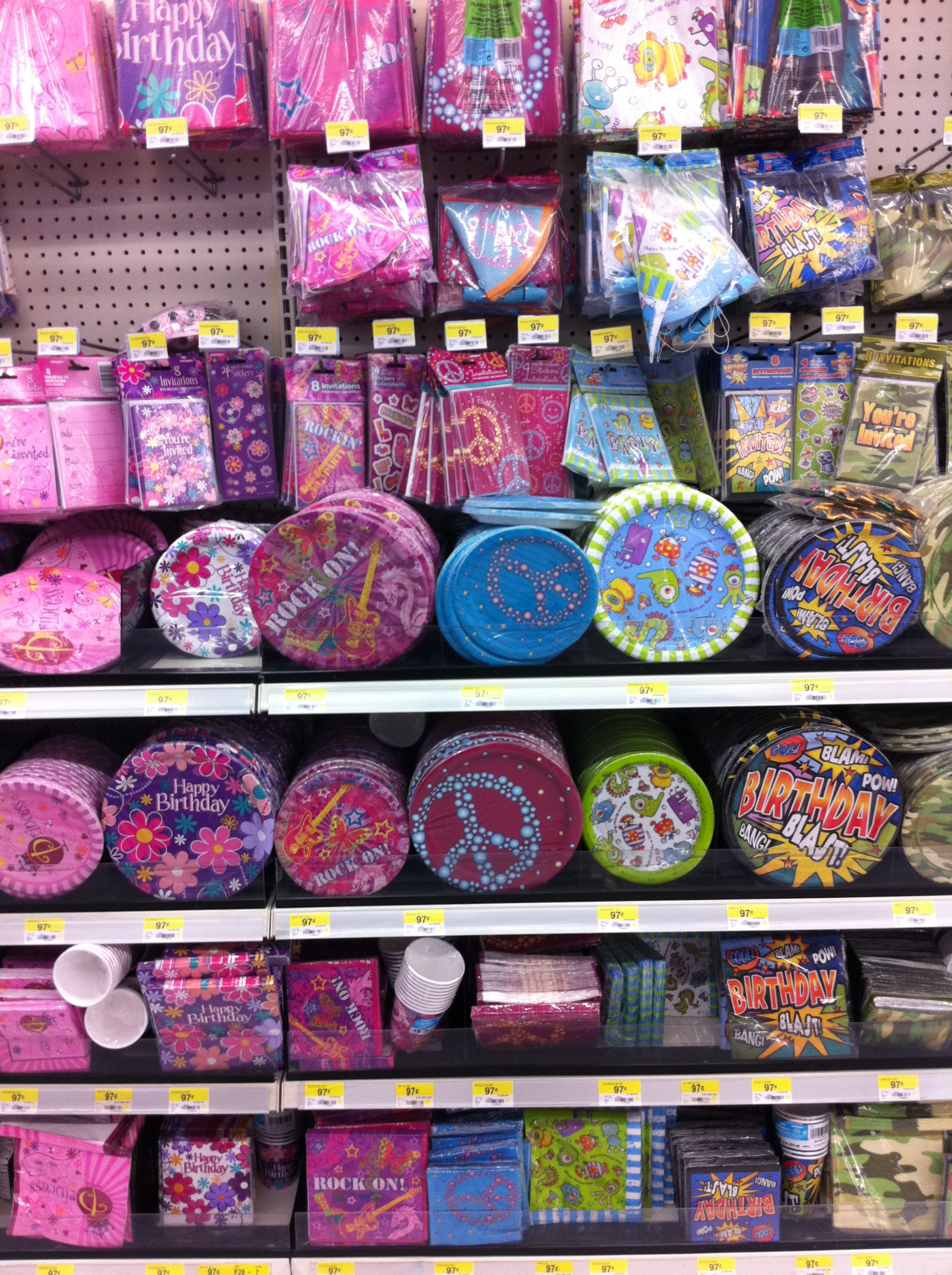 Best ideas about Walmart Birthday Decorations . Save or Pin Walmart s Party Assortment Frugal Upstate Now.