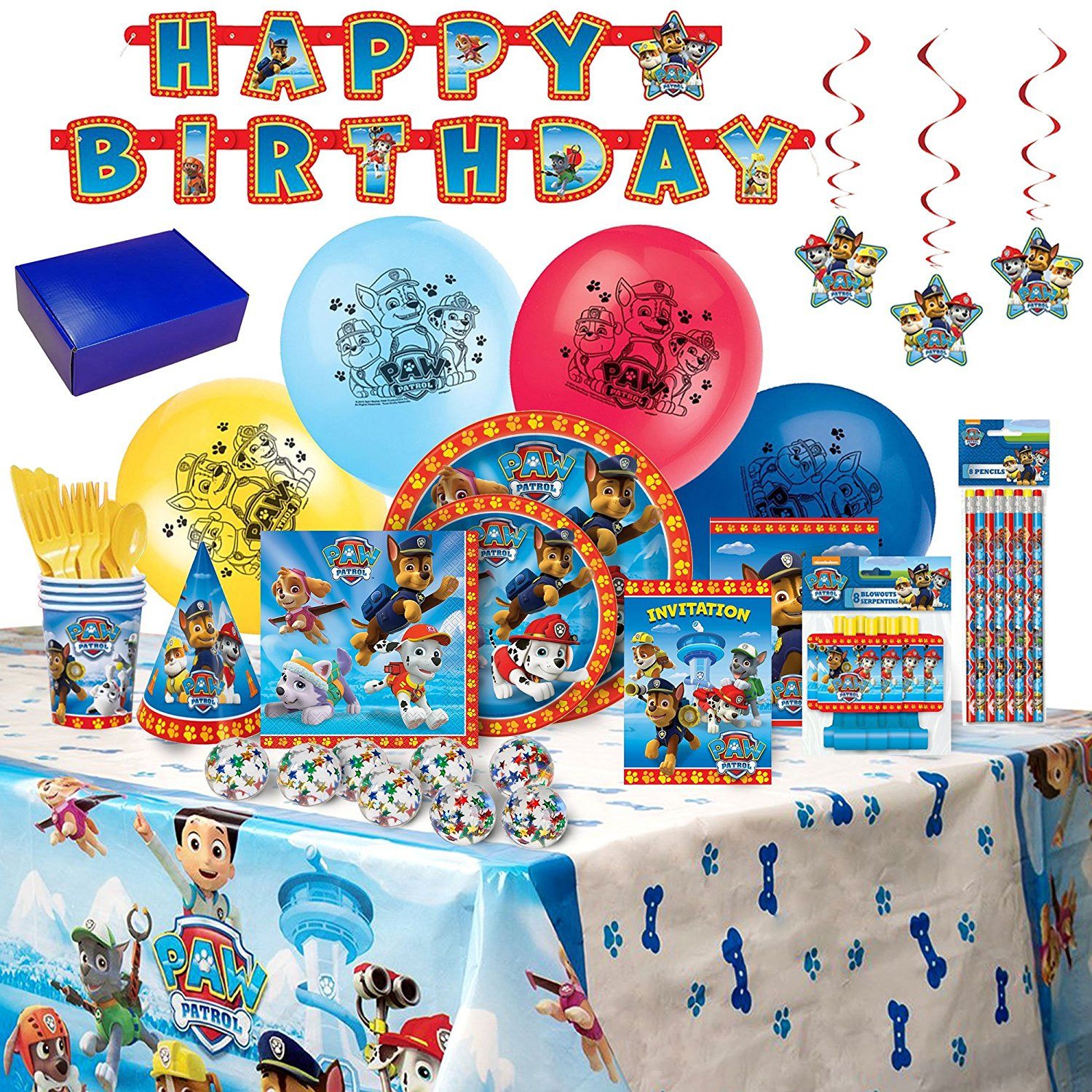 Best ideas about Walmart Birthday Decorations . Save or Pin Paw Patrol Birthday Party Supplies and Decorations 8 Now.