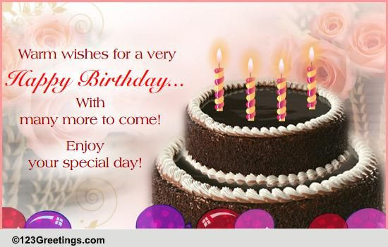 Best ideas about Warmest Birthday Wishes . Save or Pin A Warm Birthday Wish Free Happy Birthday eCards Now.