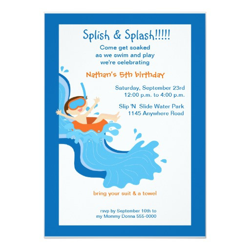 Best ideas about Water Slide Birthday Invitations . Save or Pin Water Slide Birthday Party Invitation Now.