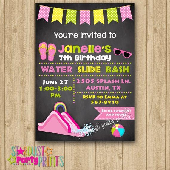Best ideas about Water Slide Birthday Invitations . Save or Pin Water Slide Invitation Water Slide Birthday Invitation Water Now.