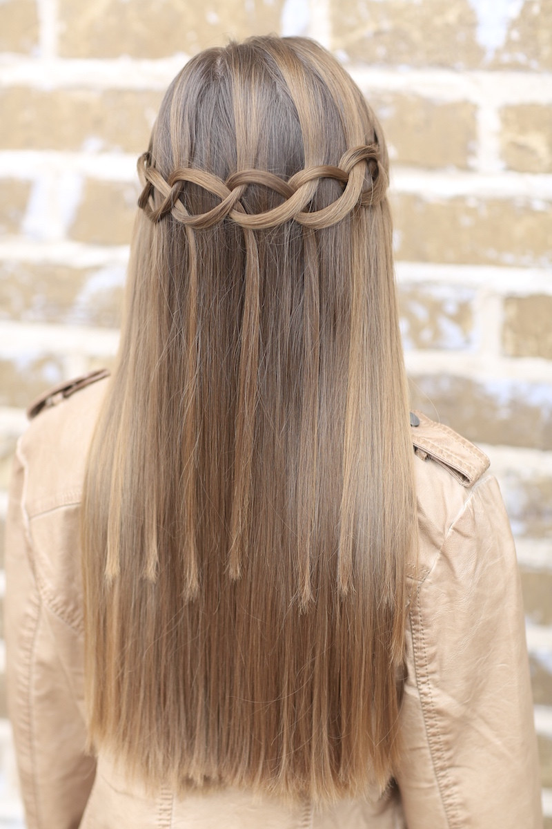 Best ideas about Waterfall Braid Hairstyles . Save or Pin How to Create a Loop Waterfall Braid Now.