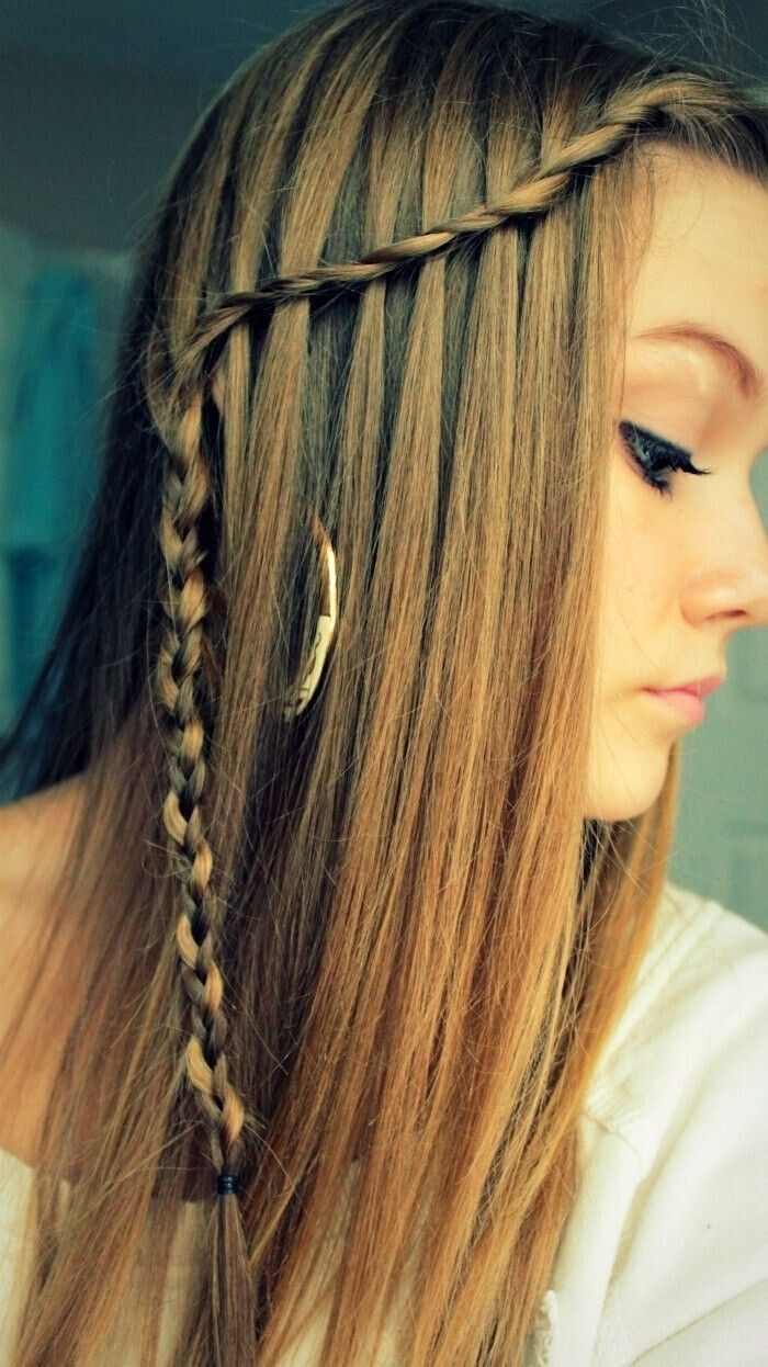 Best ideas about Waterfall Braid Hairstyles . Save or Pin 27 Cute Straight Hairstyles New Season Hair Styles Now.