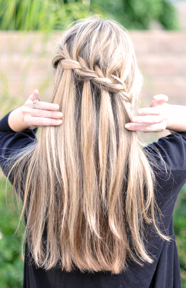 Best ideas about Waterfall Braid Hairstyles . Save or Pin Three Good Grapes We re Obsessed  The Waterfall Braid Now.