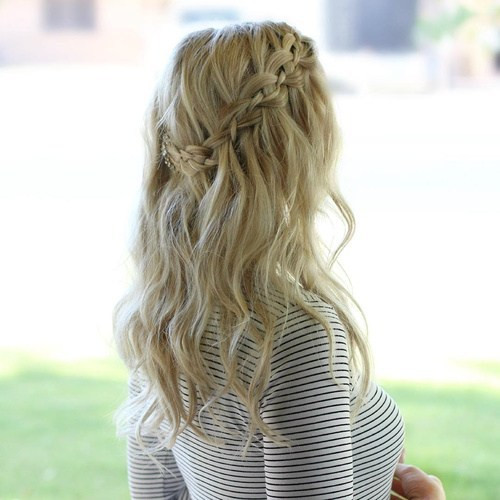 Best ideas about Waterfall Braid Hairstyles . Save or Pin 20 Flowing Waterfall Braid Styles Now.