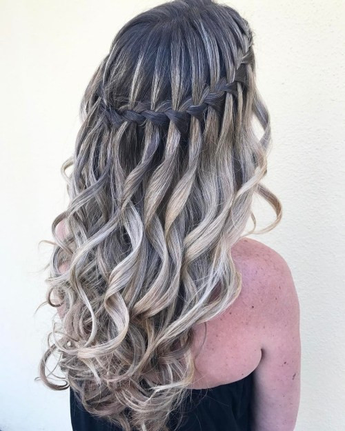 Best ideas about Waterfall Braid Hairstyles . Save or Pin 40 Flowing Waterfall Braid Styles Now.