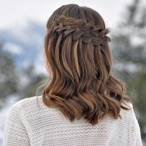 Best ideas about Waterfall Braid Hairstyles . Save or Pin 50 Dazzling Medium Length Hairstyles Now.