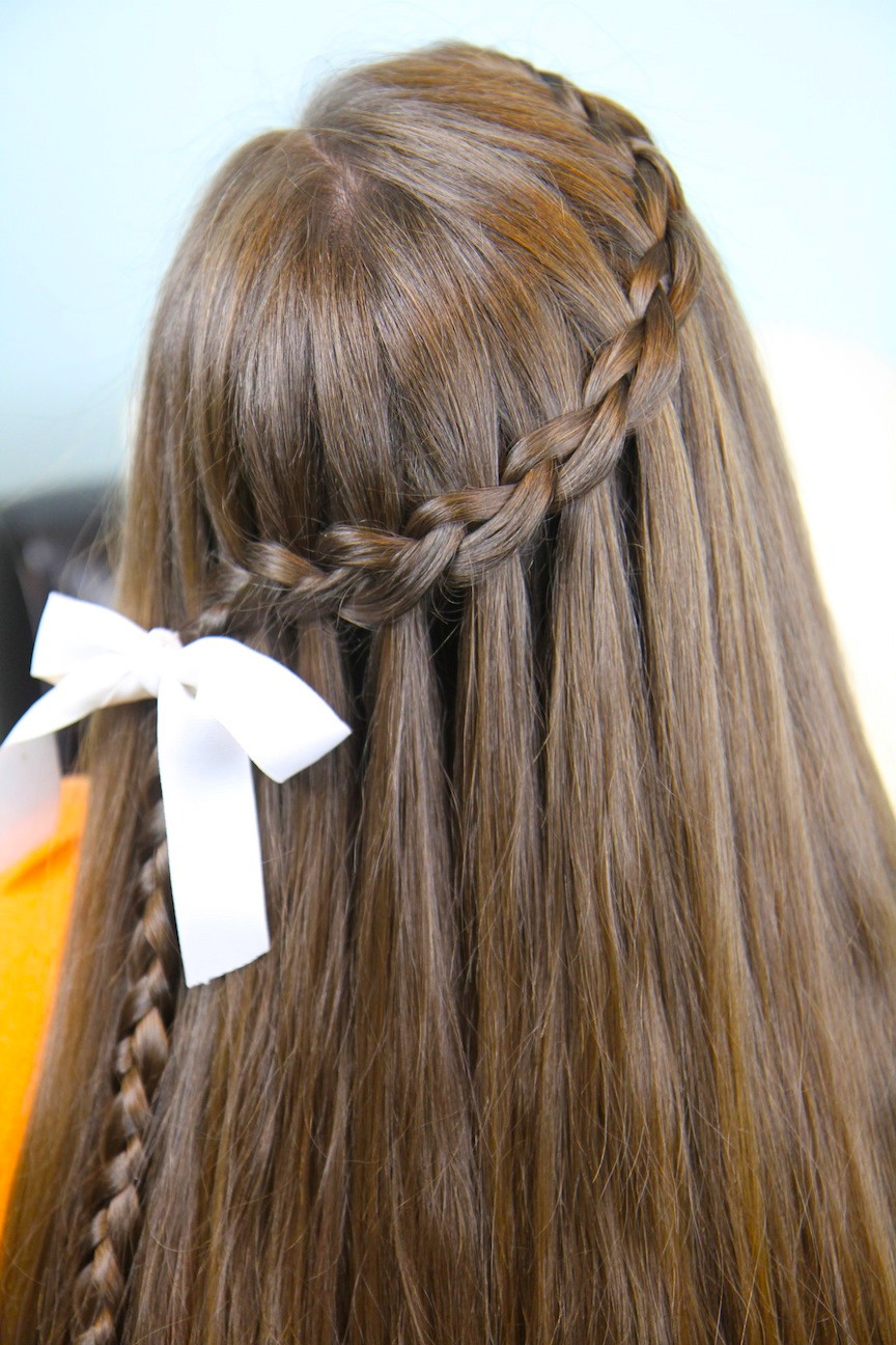 Best ideas about Waterfall Braid Hairstyles . Save or Pin Dutch Waterfall Braid Cute Girls Hairstyles Now.