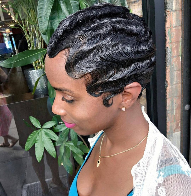 Best ideas about Wave Hairstyle For Black Hair . Save or Pin 21 Finger Wave Hairstyle Ideas Designs Now.