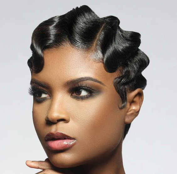 Best ideas about Wave Hairstyle For Black Hair . Save or Pin 30 Glamorous Finger Wave Styles For Any Hair Length Now.