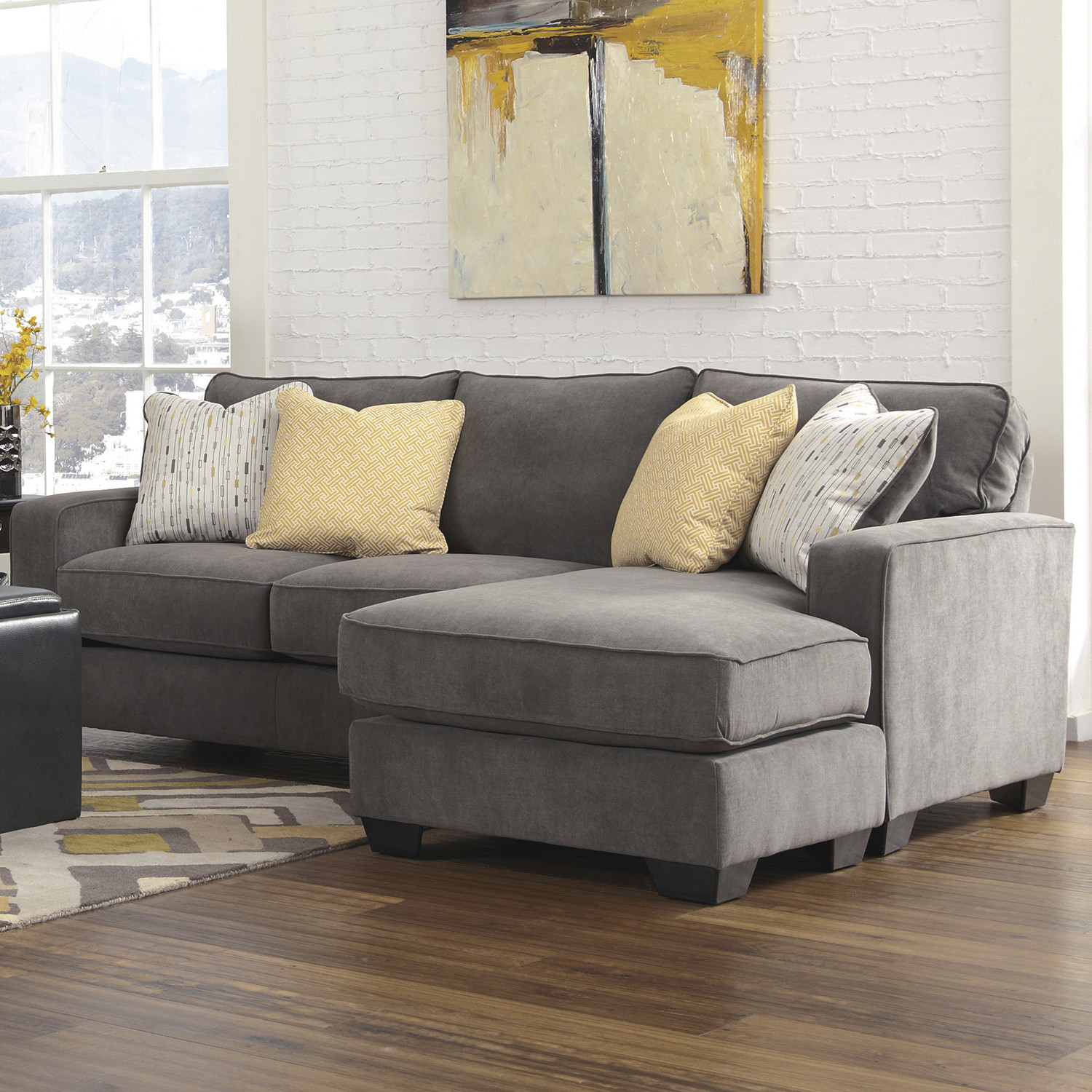 Best ideas about Wayfair Sectional Sofa . Save or Pin Mercer41 Kessel Reversible Chaise Sectional & Reviews Now.