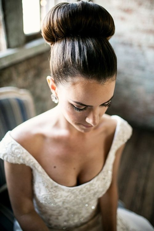 Best ideas about Wedding Bun Hairstyles . Save or Pin 12 Romantic Wedding Hairstyles for Beautiful Long Hair Now.