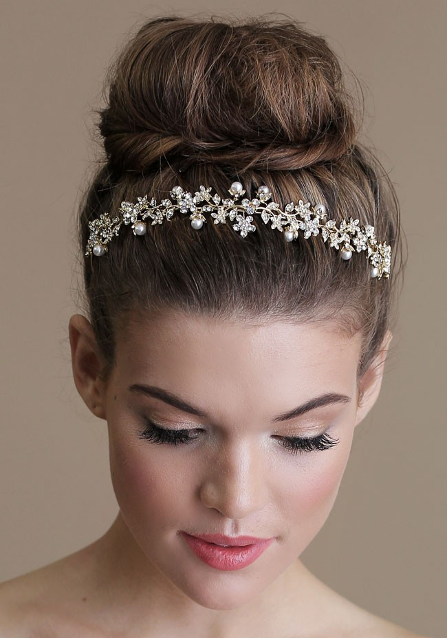 Best ideas about Wedding Bun Hairstyles . Save or Pin Bridal Hair 25 Wedding Upstyles and Updos Now.
