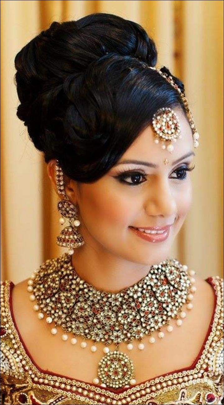 Best ideas about Wedding Bun Hairstyles . Save or Pin Hindu Bridal Hairstyles 14 Safe Hairdos For The Modern Now.