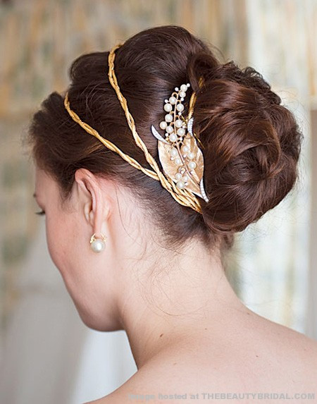 Best ideas about Wedding Bun Hairstyles . Save or Pin Modern Wedding Hairstyles With Bun Now.
