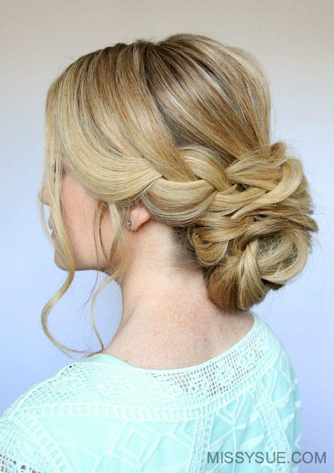Best ideas about Wedding Bun Hairstyles . Save or Pin Braid and Low Bun Updo Now.