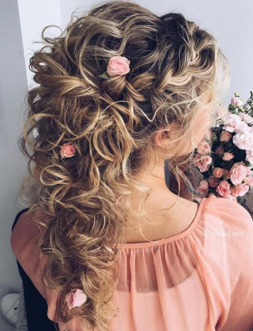 Best ideas about Wedding Curly Hairstyles . Save or Pin 20 Soft and Sweet Wedding Hairstyles for Curly Hair 2019 Now.
