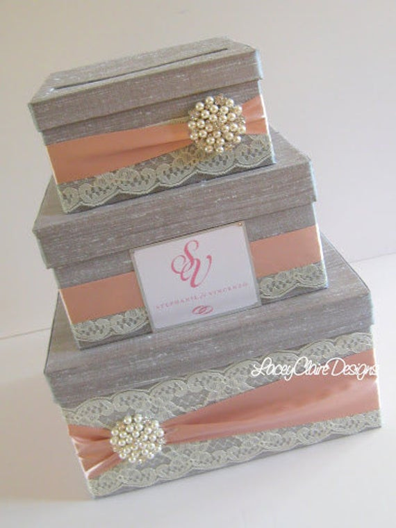 Best ideas about Wedding Gift Boxes Ideas . Save or Pin Wedding Gift Box Card Box Money Holder Custom Made Now.
