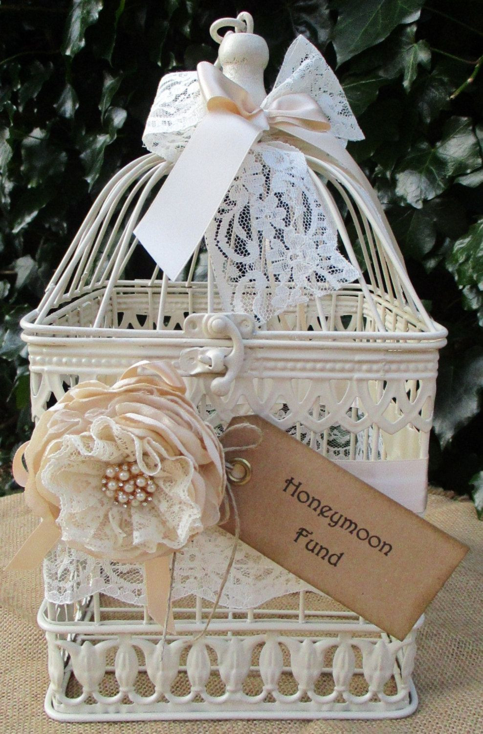 Best ideas about Wedding Gift Card Ideas . Save or Pin Birdcage Wedding Post Box Card Holder Now.