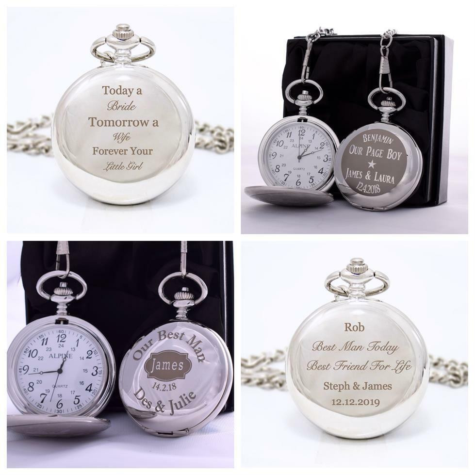 Best ideas about Wedding Gift Engraving Ideas . Save or Pin Engraved WEDDING Pocket Watch in Gift Box For Father of Now.