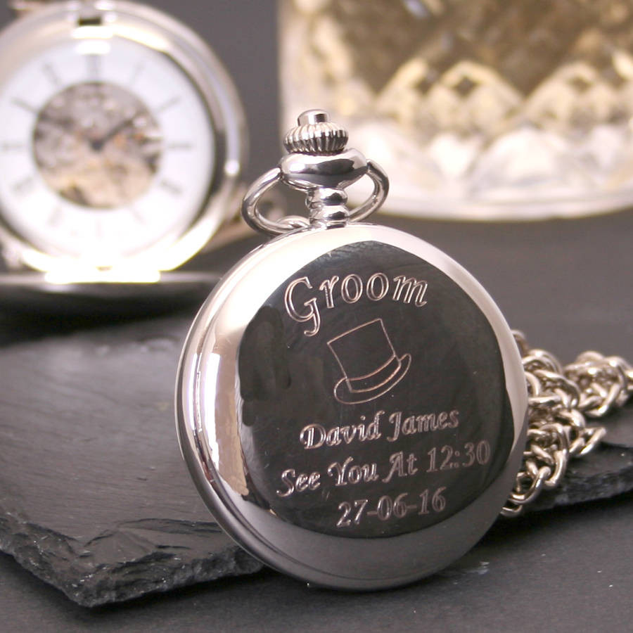Best ideas about Wedding Gift Engraving Ideas . Save or Pin engraved wedding pocket watch t by tsonline4u Now.